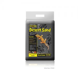 Arena de desierto negra reptiles